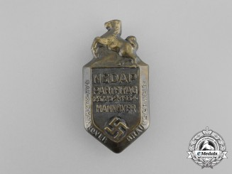 A 1934 NSDAP Hanover Party Day Badge