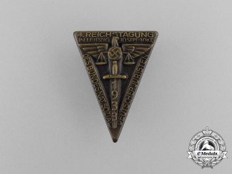 A 1933 4th Regional Festival of the national Socialist League of German Jurists Badge