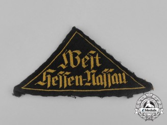 A HJ/DJ West Hessen-Nassau District Sleeve Patch; Uniform Removed