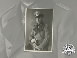 A Wartime Photo of  General Karl Böttcher; Bulgarian Order of Military Merit