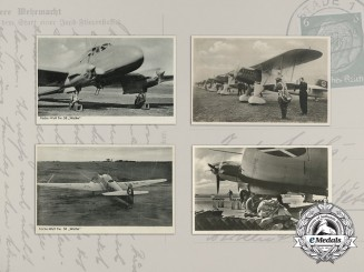 Four Luftwaffe picture postcards (Fw. 58)
