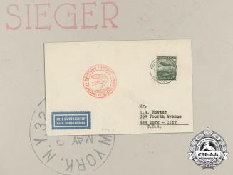 "An Envelope Sent by Airship ""Hindenburg"" to New York, 1936"