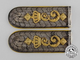 A Set of Prussian 3rd Regiment Queen Elisabeth Grenadier Guards Shoulder Boards