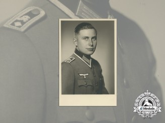 A Wartime Studio Portrait of Wehrmacht Feldwebel