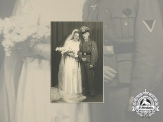 A Wartime Wedding Photo of HJ & Wehrmacht Member