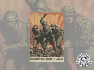 A Wartime Italian Propaganda Postcard by Gino Boccasile