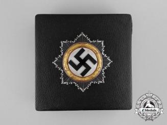 A Mint Cased German Cross in Gold by Fritz Zimmermann of Stuttgart; Light Version