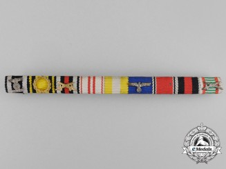 A First & Second War Spange & Silesian Eagle Medal Ribbon Bar