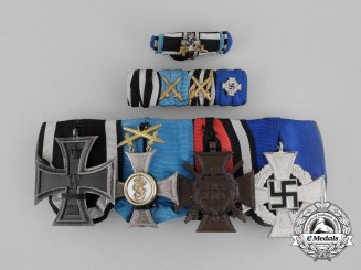 A First War Wurttemberg Friedrich Order Medal Bar with Boutonniere