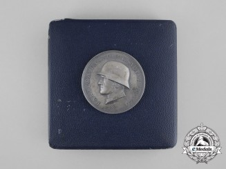 A Mint 14th Panzer Division Medal in its Original Case of Issue