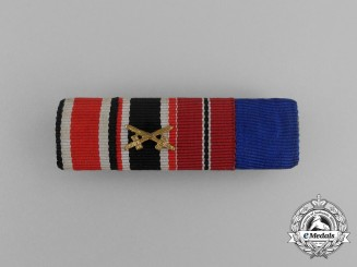 A Second War German Long Service Medal Ribbon Bar