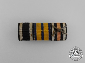 A First War German Schwarzburg Military Long Service Decoration Medal Ribbon Bar