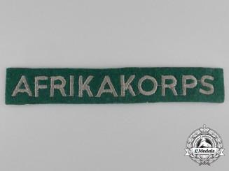 A Luftwaffe DAK (German Africa Corps) Fallschirmjäger Cufftitle
