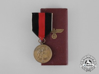 An Entry into the Sudetenland Commemorative Medal in its Original Case of Issue