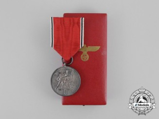 A Cased Austrian Anschluss Commemorative Medal by the Official Vienna Mint