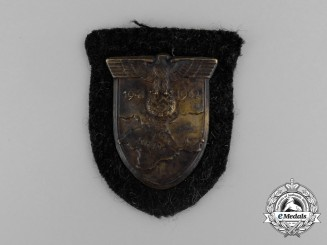 An Unissued Wehrmacht Heer (Army) Issue Krim Campaign Shield
