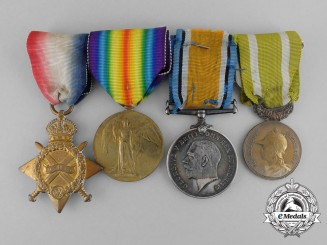 A Fine First War Canadian Medal Group to Cpl. Charbonneau - 1914-15 Star