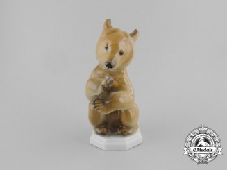 An SS Allach-Made Standing Bear Figurine by Theodor Kärner