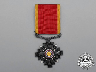 A Japanese Occupied Manchukuo Order of the Pillars of the State; 8th Class