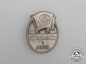 A Third Reich Period Bitburg Siemens Construction Unuion Badge