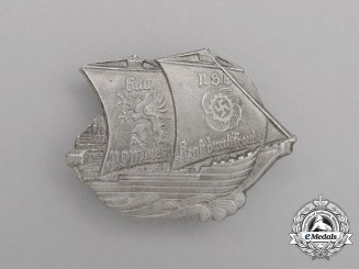 A Third Reich Period KDF (Strength Through Joy) Gau Pommern Vacation Badge by Wiedmann