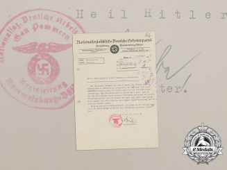 An NSDAP Administration Inquiry at the Reich Railroad Concerning Member August Baumann
