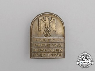 A 1934 Memmingen District Party Day Badge