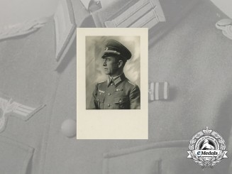 A Wartime Studio Photo of Wehrmacht Officer & EK Recipient
