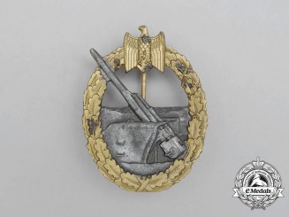 A Second War German Kriegsmarine Coastal Artillery War Badge