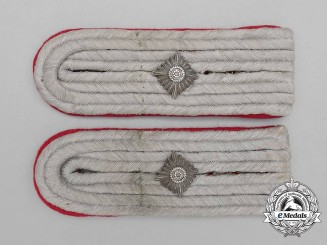 "A Set of Wehrmacht Heer (Army) Veterinary ""Oberveterinär"" Shoulder Boards"