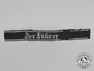 "A Waffen-SS ""Der Führer"" Officer's Cufftitle; Tunic Removed"