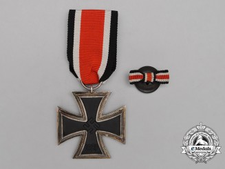 An Iron Cross 1939 Second Class Accompanied by its Boutonniere