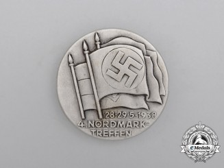 A 1938 NSDAP 4th Meeting in Nordmark Badge