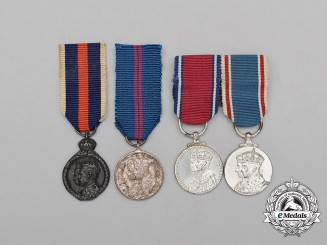 Four Coronation/Jubilee Miniature Medals