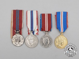 Four Queen Elizabeth II Miniature Medals