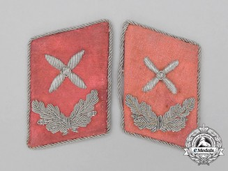 A Set of Luftwaffe Flight Engineer Hauptingenieur Rank Collar Tabs