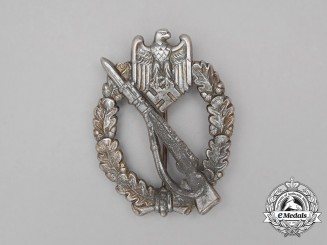 An Early Second War German Silver Grade Infantry Assault Badge