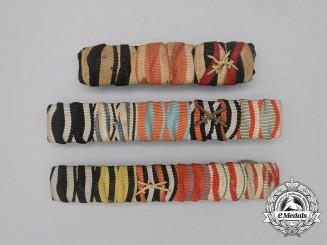 Three First War German Medal Ribbon Bars