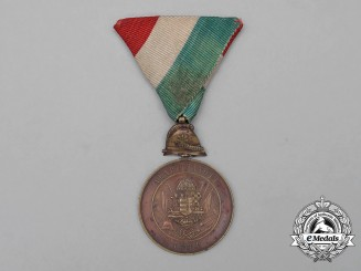 A Hungarian Alapittatott Fire Brigade Long Service Medal for Ten Years' Service