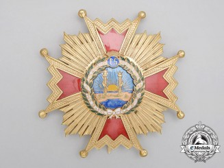 A Spanish Order of Isabella the Catholic; Grand Cross Star (1938-1975)