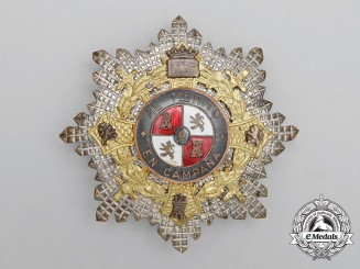 A Spanish War Cross; Officer's Breast Star (1942-1975)