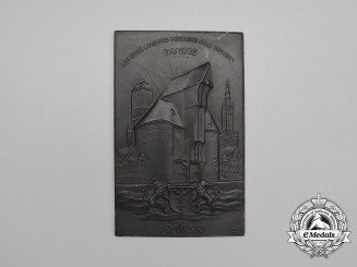 "A 1939 ""Shout over Land, the Ocean, and all Borders to Danzig"" Wall Plaque"