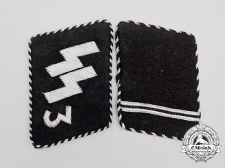 "A Set of Waffen-SS ""Der Führer"" Regiment Sturmmann Rank Collar Tabs; RZM Tagged"