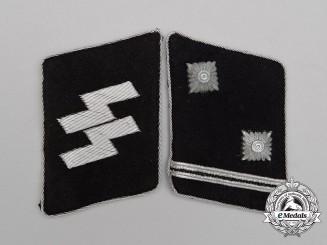 A Set of Waffen-SS Hauptscharführer Rank Collar Tabs