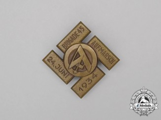 A 1934 SA Brigade 45 Rally Badge
