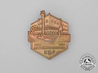 Germany. A 1938/39 KDF Mediterranean Travel Badge by Hoffstätter