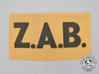 A German Imperial Battalion of Civil Workers (ZAB = Zivilarbeitersbataillon) Armband