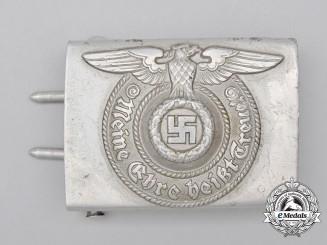 A SS EM/NCO Standard Service Belt Buckle by Assmann und Söhne; Aluminum Version