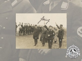 A Photograph Signed by Göring Depicting Himself, Ernst Röhm and Other SA Leaders
