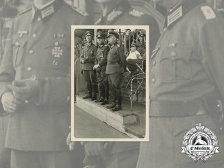 A Wartime Photo of Wehrmacht General & Officers